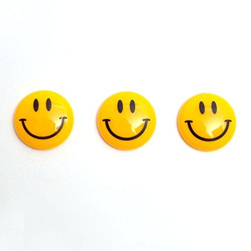 Smiley Magnete 16Stk Gelb 40mm (2 Sets à 8 stk)