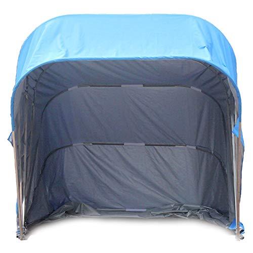 Tragbare Garage im Freien Pavillon Carport, Halbautomatischer Mobiler Klappgaragen Home Carport Anti-UV Schutz Wind Schnee Hochleistungs Stahlrahmen Schutzgarage ( Color : 1 , Size : 5.6m Galvanized )