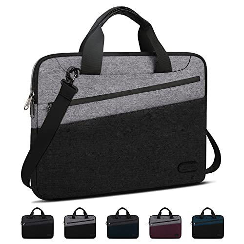 Lubardy Laptoptasche 15.6 Zoll Aktentasche Herren mit Taschen Business wasserdichte Notebooktasche Umhängetaschen mit Schultergurt