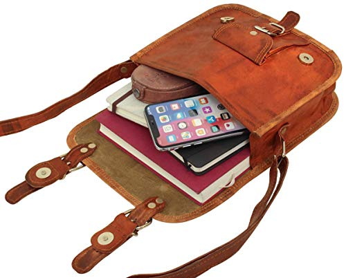 "416sSrYBsyL - Gusti Bolso Bandolera de Cuero Leder Emilia M. 7"" Bolso de Fiesta Festival iPad Mini Tiempo Libre Cuero de Cabra H3m"