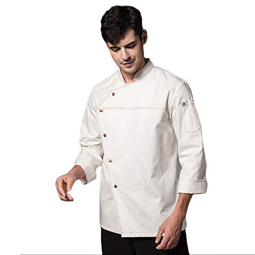 WYCDA Hotel Chef voor keuken, uniform, lange mouwen, hemd, blouse, kleding-design, tas op borst, met I knoppen, geschikt voor thee-huis, deukentje, hotel, Ristorante, huis, huis