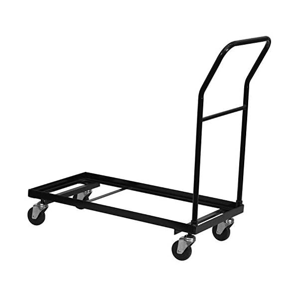Flash Furniture Black Folding Chair Dolly