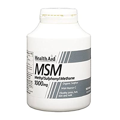 HealthAid MSM 1000mg - 180 Vegetarian Tablets