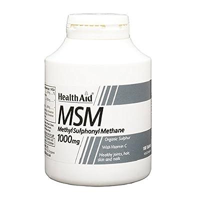 HealthAid MSM 1000mg - 180 Vegetarian Tablets from HealthAid