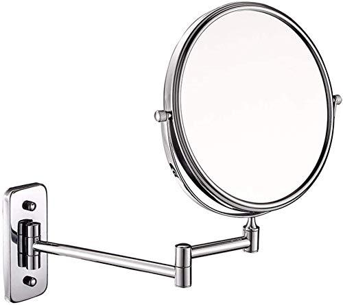 HCMNME Espejos Maquillaje de Pared de 8 Pulgadas 10x Magnificación de Doble Cara Tabletop (Color: Plata, Tamaño: 8 Pulgadas 10x) (Color : Silver, Size : 8 Inches 10X)