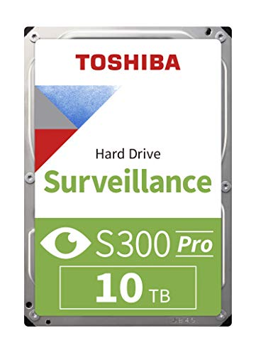 Toshiba hdwt31auzsva–Internal 3.5(10TB HDD Überwachung S3007200RPM, 256MB Bulk), Schwarz