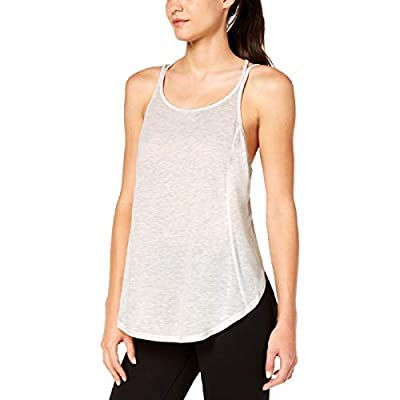 Calvin Klein Performance Womens Yoga Fitness Tank Top Gray XL