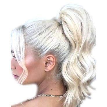 VANESSA GREY Queue de Cheval Ponytail Toutes les couleurs disponibles, L'extension De Cheveux Extra Longue Et Volumineuse Postiche 10 Blonds Platines