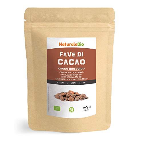 Granos de Cacao Crudo Ecológico 400g. 100 % Bio, Natural y Puro....
