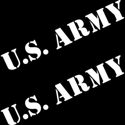 GreenIT 2 Unidades 50 cm Blanco Texto Pegatinas US Army USA MP Auto Jeep Tuning Tattoo la Cut Deko Pantalla Adhesivo