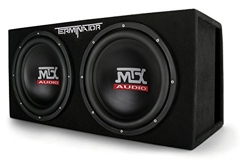 "MTX Audio TNE212DV Dual 12"" Subwoofer Vented Enclosure, Black"