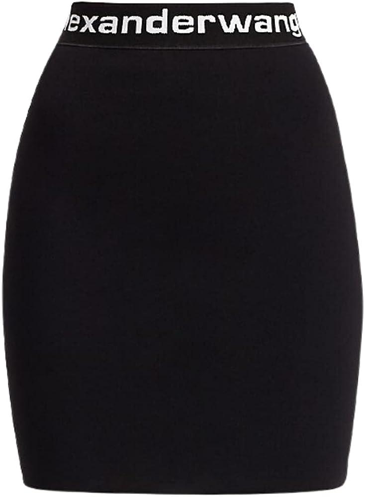 Alexander Wang Women's Bodycon Mini Skirt - Black & Wh - Size M