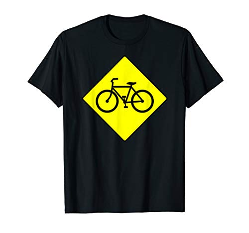 Fahrrad Warnschild Verkehrsschild Achtung T-Shirt