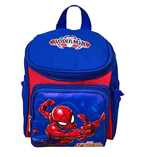 Xyh723 Niños Spider-Man Mochila De Almuerzo Superhéroe Personaje Mochila Escolar Niño 3D Imprimir Anime Mochila Unisex Viajes De Vacaciones Cómoda Regalo De Cumpleaños,Blue-One Size