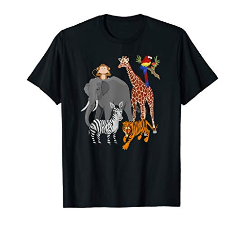 Zoo Animals Shirt Wildlife Birthday Party A Day At The Zoo T-Shirt