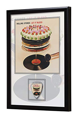 We Love Guitars Rolling Stones Let It Bleed EGA Gerahmtes Albumcover Gitarren-Pick-Display gerahmt