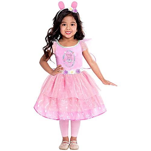 amscan 9905931 Pinkes Feenkleid mit Peppa Wutz Design, 2–3 Jahre, 1 Stück, Mädchen