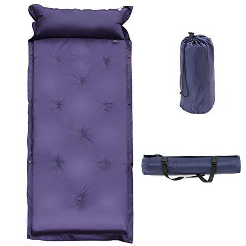Selbstfüllende Isomatte mit Kissen Automatische aufblasbare Matte für Camping Outdoor by S.A (blau)