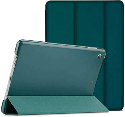 Slim Smart Stand Case Magnetic Cover For Apple iPad Air (1st Generation) A1474 A1475 A1476 Smart Case with Automatic Magnetic Wake/Sleep (Emerald Green)