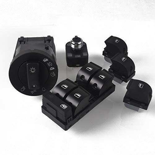 FangFang AJUSTE PARA AUDI A4 B6 B7 RS4 FIT FOR PARA SEAT EXEO VENTANA PANEL DE VENTANA MASTER MASTER ELECTRÁTICO Botón de encendido Interruptor de la luz de la luz de la luz trasera Interruptor de esp