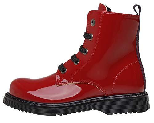 Tommy Hilfiger Kinder/Erwachesenen Boots Winter Lack Schuhe Mädels, Farbe:Rot, Größe:EUR 31
