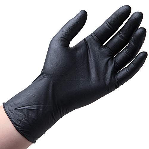 100pcs Vinyl Disposable Gloves Powder Latex Free Strong Food Nitrile Home Kitchen Safety Work Tool Gloves Black L