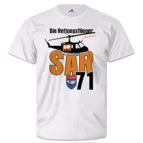 Die Rettungsflieger SAR 71 Search and Rescue Huey UH-1D T Shirt #25709, Größe:Herren L, Farbe:Weiß
