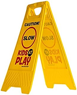 Kids Playing Safety Sign (Double-Sided) -