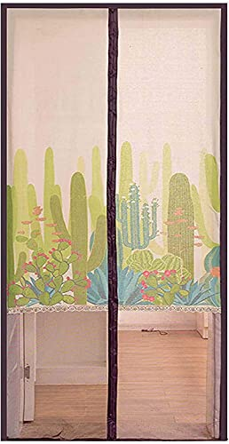 GPFFACAI Electromagnetic screenMagnetic Screen Door, Anti-Insect Mosquito Net, Auto Close, Full Frame Hook & Loop, Easy Installation, Protect Privacy, Air Circulation(Size:85 * 200cm)