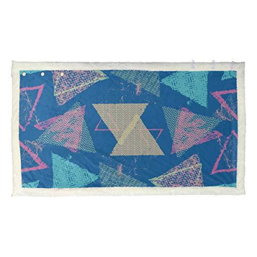 Geometrische abstrakte Dreieck Mode tragbare Decke Boys tragbare Erwachsene Decke 53 x 30 Zoll mit 3 Taste für Sofa im Freien Schal Decke Wrap Schals und Wraps