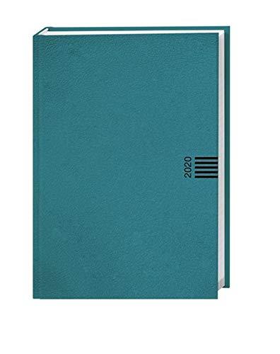 Tages-Cheftimer A6, petrol. Taschenkalender 2020. Tageskalendarium Kalenderbücher. gebunden. Format 10,5 x 14,6 cm