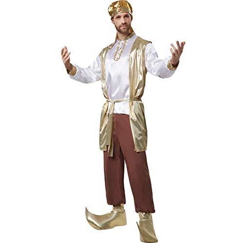 dressforfun 900527 - Herrenkostüm prächtiger Sultan, Orientalisches Gewand mit vielen goldenen Elementen (L | Nr. 302642)