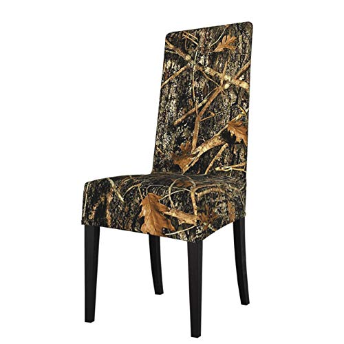 TOBEEY Anti-Dust Chair Covers Autumn Camoflauge Print High Chair Seat Protectors Removable Dining Chair Protectors For Banquet