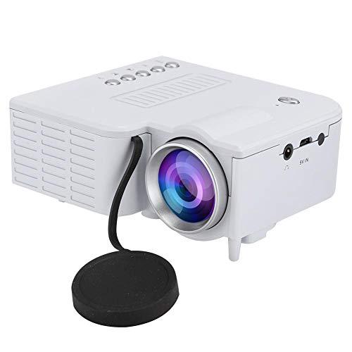 Wendry thuisbioscoop, ventilator + aluminium radiator + wervelluchtkanaal, home HD 1080P draagbare miniatuurprojector, stil design en efficiënte warmteafvoer, praktische stroomvoorzieningsmodus, wit