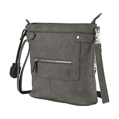 "Browning Women's Catrina Handbag Purse, Gray, 11.5""L x 18""H x 3.5""W"