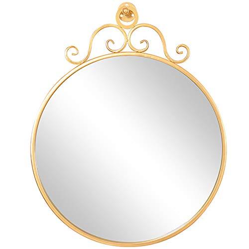 JJJJD Espejo de Maquillaje Espejo de vanidad Montaje en Pared Espejo de Oro, Disponible en una Variedad de tamaños (Size : Diameter 60cm)