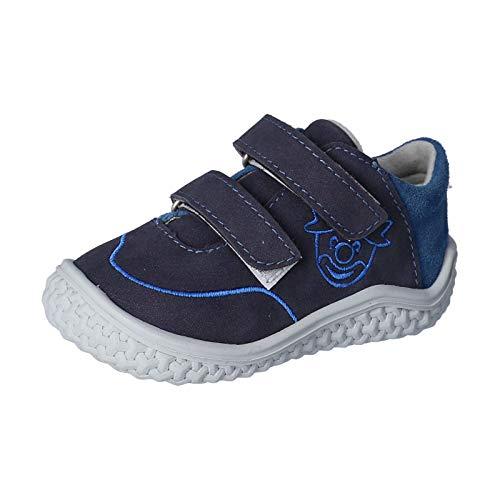 RICOSTA Kinder Low-Top Sneaker FIPI von Pepino, Weite: Mittel (WMS),Barfuß-Schuh, sportschuh Klettschuh Kinder toben,Nautic/Petrol,23 EU / 6 Child UK