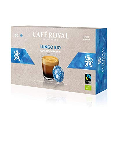 Café Royal Lungo Bio 50 Nespresso (R)* Pro kompatible Kapseln - Kompatible Kaffeepads für Nespresso (R)* Business Solution Maschine - Intensität 3/10