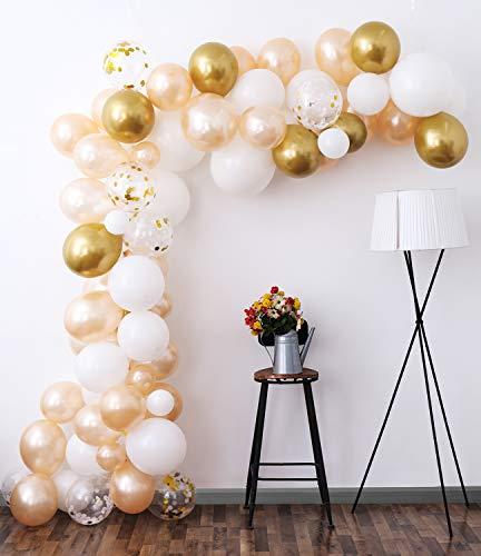 White Gold Balloon Garland Kit, 105…