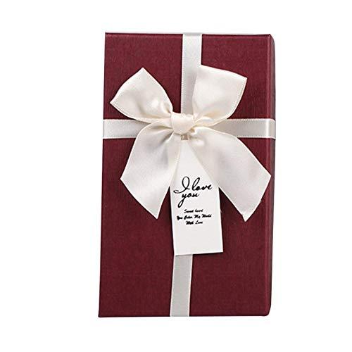 Demarkt geschenkdoos, geschenkdoos, cadeauverpakking, cadeaudozen voor bruiloft, verjaardag, babyshower, doop, 20 stuks rood