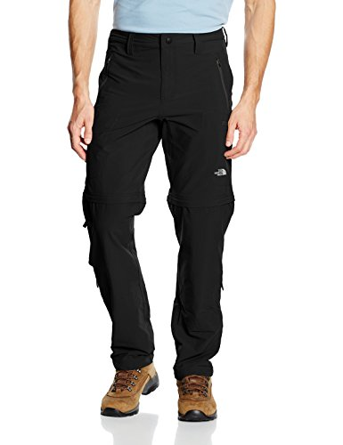 The North Face Herren Hose Exploration Convertible, Tnf Black, 34 Regular