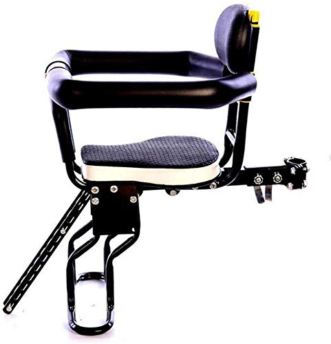 Seguridad del asiento delantero de la bicicleta para niños Cojín portabicicletas para niños con soporte para bebés, Silla ajustable para bicicleta de montaña con absorción de impactos ultraligera con