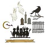 Sizzix Juego de Troqueles Thinlits 11PK Serie Vault: Halloween 2021 de Tim Holtz, 665563, Multicolor, Talla única