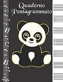 Quaderno Pentagrammato: Quaderno Di Musica Grande Contiene Sommario Per i Nomi Della Tua M...