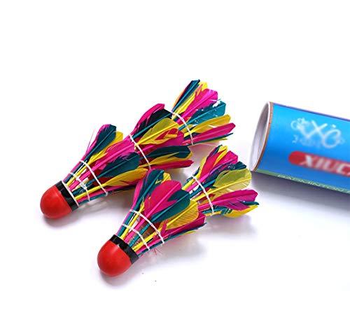 SJHSAIU Farbe Badminton, elastisches Badminton, Ausbildung und Unterhaltung Badminton, Sport und Fitnessgeräte, geeignet for Grund- und Zwischen Praktiker, 11 PCS