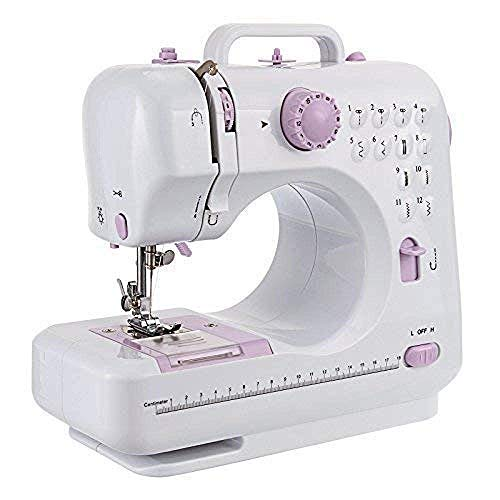 Review Portable Sewing Machine,Silent portable 12-slit multi-function electric overlock sewing machi...