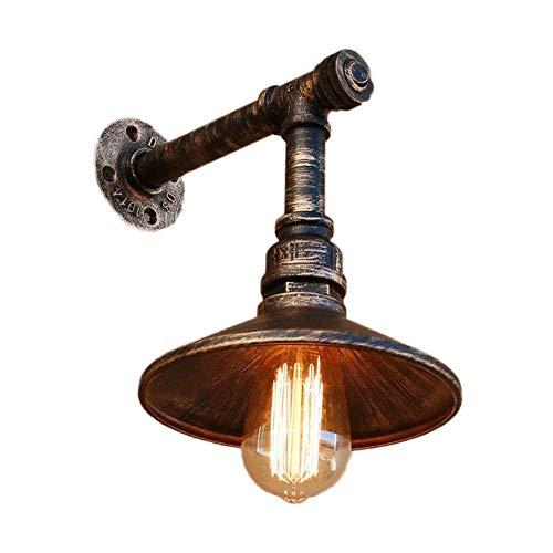 Apliques de pared industriales vintage con interruptor Luz de pared rústica retro Tuberías de agua Estilo Decoración interior Pasillo de hierro forjado Loft Edison E27 Lámparas de pared de café i