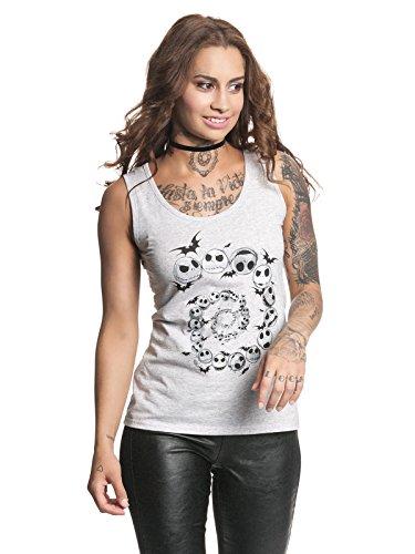 Nightmare before Christmas – Camiseta de tirantes para mujer – Jack Spiral (gris claro) (S-L) gris S