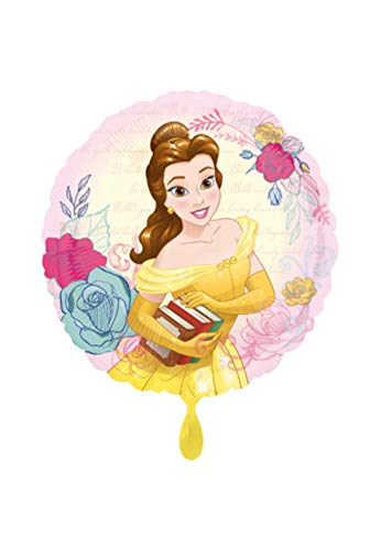 Balloon BANG – Globo XL – La Bella y la Bestia Diseño con Flores – 45 cm – Idea Perfecta para Regalo de cumpleaños, día de San Valentín, Boda, Fiesta decoración, Color Rosa