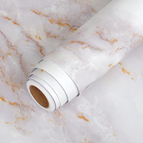 Lsooyys Papel pintado mate para pegar y pegar papel de contacto, impermeable, autoadhesivo, de granito, para encimera, vinilo, para decoración de baño, cocina, 15,7 x 314,9 cm